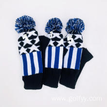 Golf knitting three-piece club set cap set